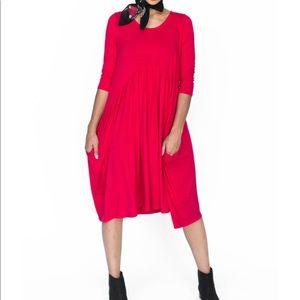 Agnes & Dora Red Muse Midi Dress